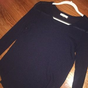 textured navy long sleeve from urban